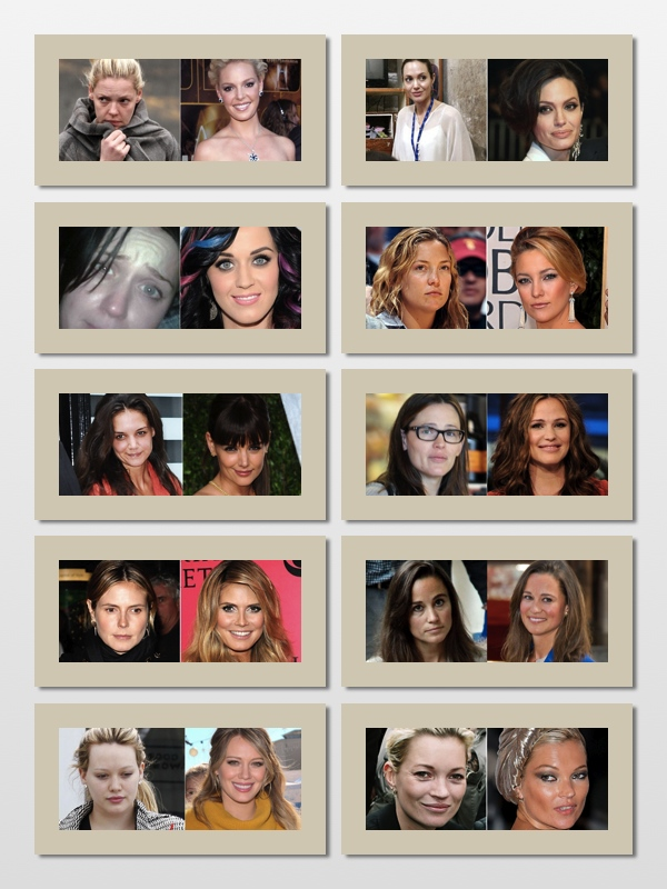 Celebrity's Without Make-Up!