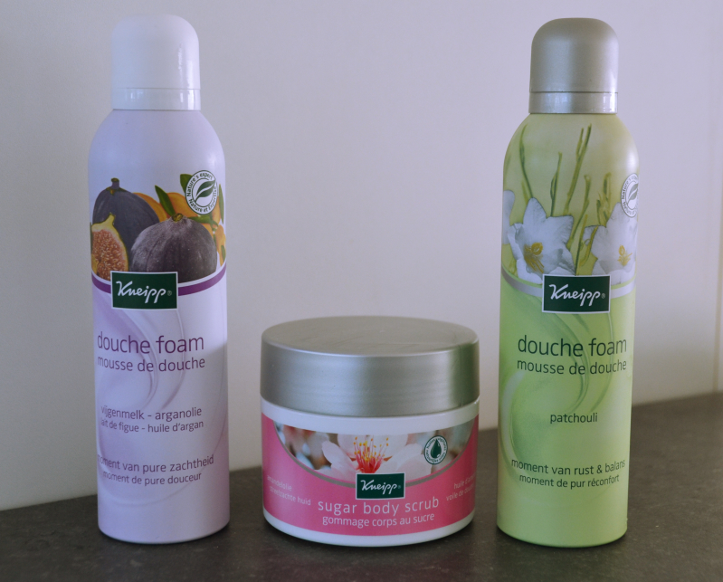 kneipp douche foam & body scrub
