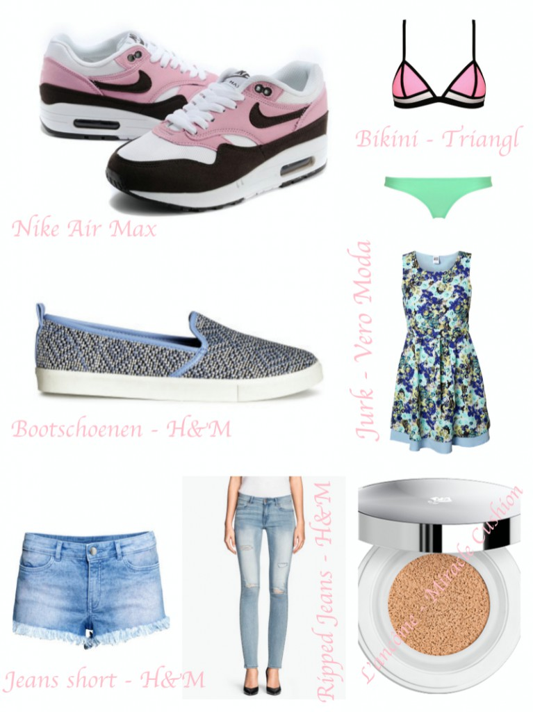 My summer wishlist collage