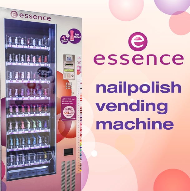 Essence nailpolish vending machine