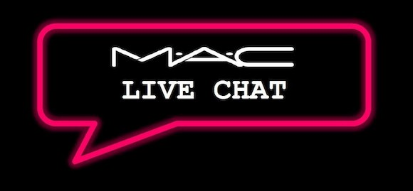 MAC cosmetics live chat 02