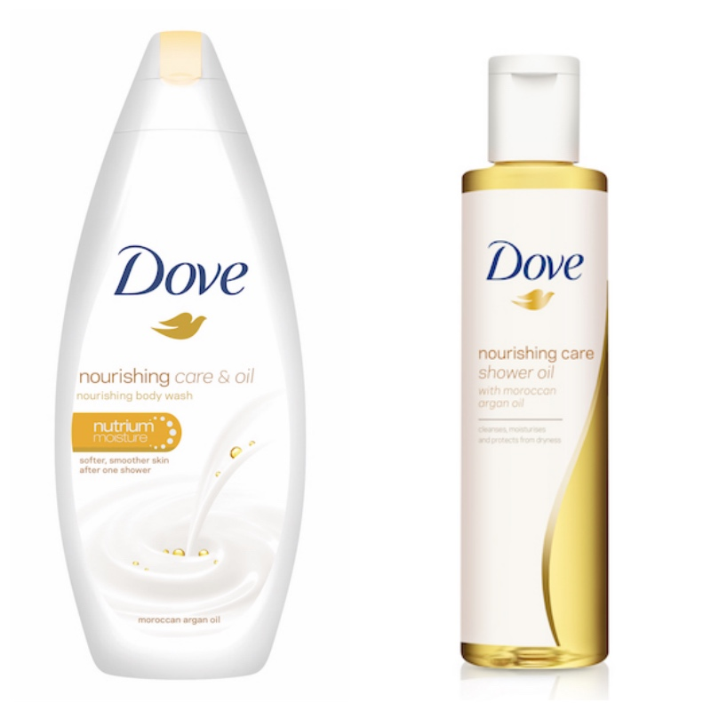DOVE NOURISHING CARE & OIL collage