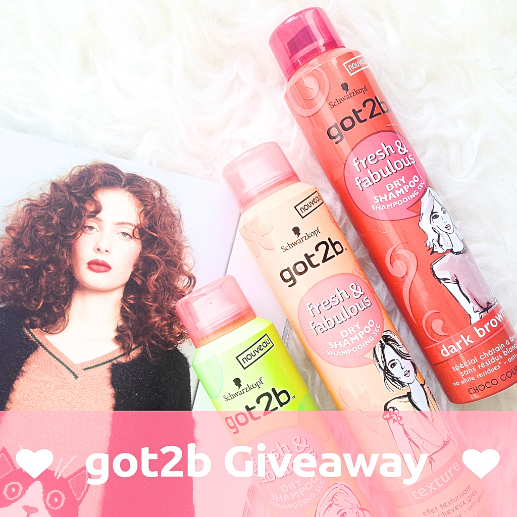 Giveaway - 3 X Got2b Fresh & Fabulous Droogshampoo