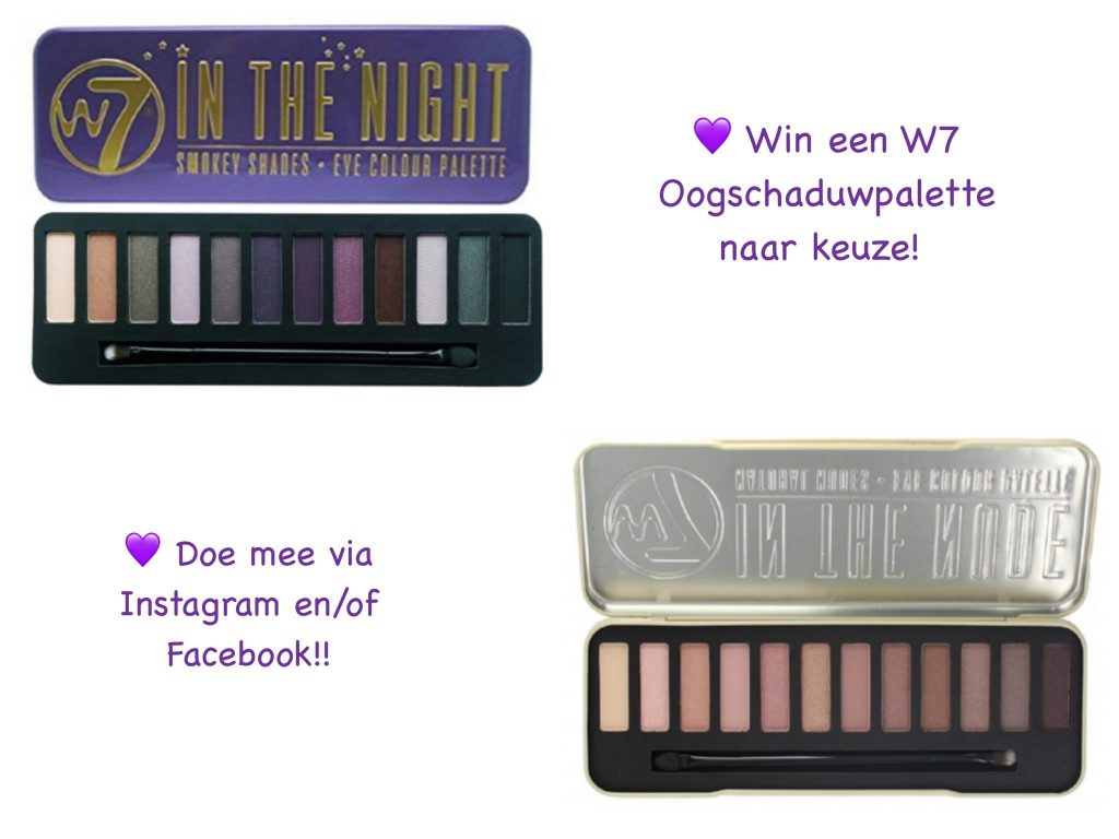 Giveaway W7 oogschaduwpalette blog